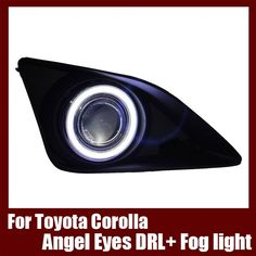 108.29$  Buy now - http://ali5ny.shopchina.info/go.php?t=32791453732 - For Toyota Corolla  2007-2010  COB Angel Eyes DRL with Fog lights Projector Lens Lamp Bumper Cover  #buychinaproducts