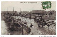 Dép 44 - Chemins De Fer - Tramways - Tramway ( Pub Petit Beurre Lu ) - Attelage De Chevaux - Nantes - Le Pont Haudaudine - Nantes