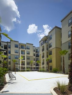 Volley Ball Sport Court At The University House Central Florida Apartment Complex Students