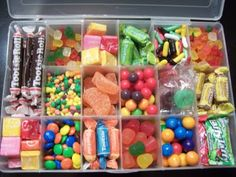 Tackle Box filled with candy. Easy Gift!