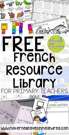 FREE French Resource Library for primary teachers!FREE French Resource Library for primary teachers! French Flashcards, French Worksheets, French Language Lessons, French Language Learning, Spanish Lessons, Spanish Language, German Language, Dual Language, Primary Lessons