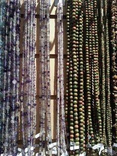 Very versatile Flourite and Bloodstone beads avaliable in sizes 4mm, 6mm, 8mm and chips! From £3.95 a string!