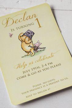Project Nursery - Winnie the Pooh 1st Birthday Invitation
