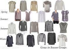Uniform Dressing 3 Grays in Season Groups
