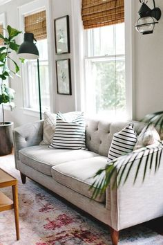 white comfy living room