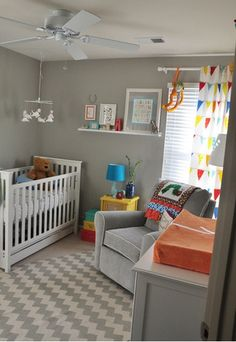 grey with pops of color-nursery