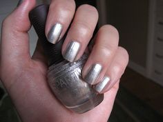 """SPARITUAL """"Through the Looking Glass"""" Summers coming~~Instead of the the traditional pinks, corals or brown on your toes? Why not think about a metallic silver mani/pedi? It's totally neutral and totally upscale looking! A definite summer trend of mine."""