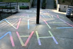 by Vanessa Lam - Have Fun While It Lasts, drawn with sidewalk chalk (Collaboration with Alice Yi)