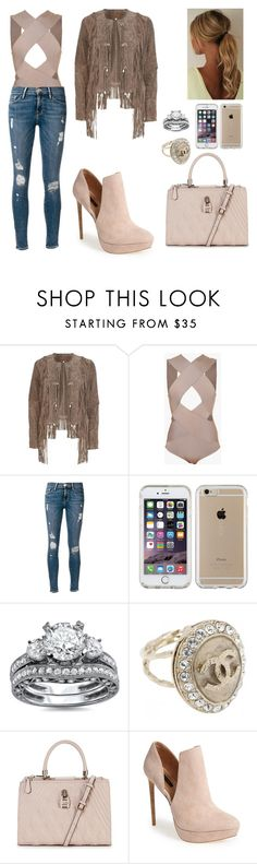 """""""Untitled #661"""" by mtbcastro-goncalves ❤ liked on Polyvore featuring River Island, Balmain, Frame Denim, Speck, Chanel, GUESS and Rachel Zoe"""
