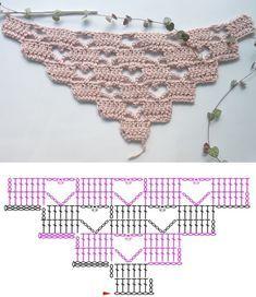 Poncho Au Crochet, Crochet Shawl Diagram, Crochet Wool, Crochet Quilt, Granny Square Crochet Pattern, Crochet Stitches Patterns, Crochet Chart, Crochet Scarves, Crochet Motif