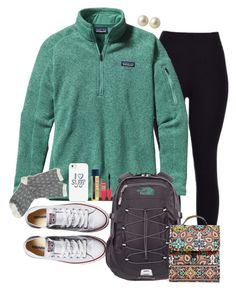 """""""#preppyshannas contest"""" by madiweeksss ❤ liked on Polyvore featuring Patagonia, Converse, J.Crew, Casetify, Burt's Bees, Maybelline, The North Face, Vera Bradley, Carolee and preppyshannas"""