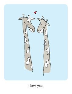 Giraffes Love