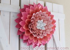 Paper Spring Wreath By Blooming Homestead