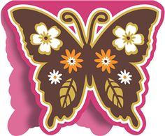 Silhouette Design Store - View Design #8976: butterfly card