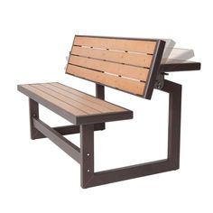 Metal & Wood Park Style Bench for Outdoor Patio Lawn Garden Welded Furniture, Industrial Design Furniture, Folding Furniture, Furniture Design, Fairy Furniture, Picnic Table, Table Bench, Wood And Metal, Lawn And Garden