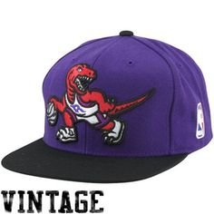 9937193e5c09f Mitchell   Ness Toronto Raptors XL Logo Two Tone Snapback Hat - Purple Black