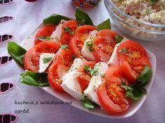 Pomidory z serem feta i bazylią. Szybka imprezowa przekąska. Caprese Salad, Feta, Blog, Blogging, Insalata Caprese