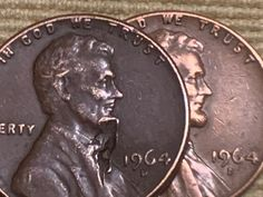 RARE Lincoln penny 1964 D Lincoln has a mustache :