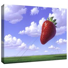 'Strawberry Field' by Jerry Lofaro Gallery-Wrapped on Canvas
