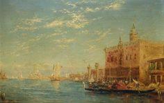 The Doge's Palace, Venice , by Felix Ziem