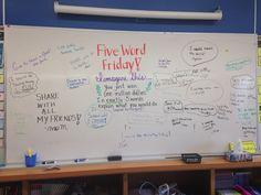 Five word Friday // millions // morning message Future Classroom, School Classroom, Classroom Activities, Classroom Ideas, Classroom Whiteboard, Whiteboard Friday, Daily Writing Prompts, Writing Ideas, Morning Activities