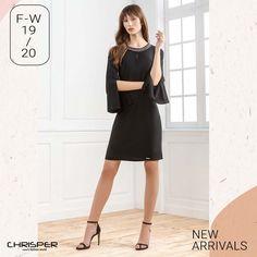 Φόρεμα σε ύφασμα κρεπ με κεντημένη λαιμουδιά και κομμένα μανίκια που δίνουν άλλο αέρα ! Κωδικός: 52313 Cold Shoulder Dress, Dresses, Style, Fashion, Vestidos, Swag, Moda, Fashion Styles, Dress