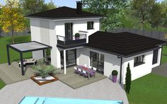 Caribbean Homes, Modern House Design, Home Projects, Beautiful Homes, Gazebo, House Plans, Sweet Home, Loft, How To Plan