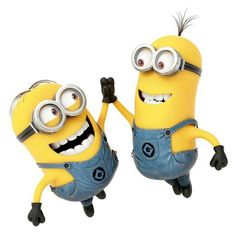 Minions high five! - Despicable Me movie Amor Minions, Cute Minions, My Minion, Minions Quotes, Minion Stuff, Minions Minions, Minion Humor, Happy Friendship Day, Friendship Quotes