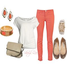 Colored Jeans, created by sheryl-lee on Polyvore