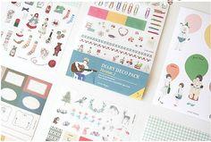 Vintage Stickers Planner Scrapbook v2
