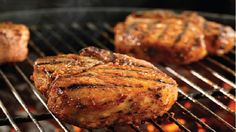 Easy, delicious and healthy Sweet Fire Pork Chops recipe from SparkRecipes. See our top-rated recipes for Sweet Fire Pork Chops. Bbq Pork Ribs, Grilled Pork Chops, Pork Rib Recipes, Grilling Recipes, Cooking Recipes, Pork Meals, Grilling Ideas, Fun Recipes, Gourmet