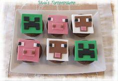 Silvia's Tortenträume: Minecraft Muffins Muffin-Aufleger Aufleger Fondant