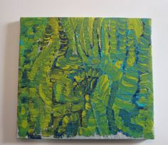 abstract outsider art painting original and unique by AntsARt, $195.00