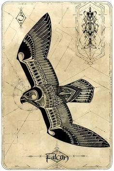 David Hale эскизы татуировок животные флеши