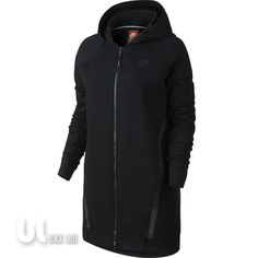 Nike Tech Fleece Mesh Cocoon Hoodie Jacke Laufjacke Damen Fitness Jacke Schwarz in Kleidung & Accessoires, Damenmode, Fitnessmode | eBay!