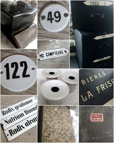 French office, journals and enamel plaques in the sale use TAKE20 at checkout FleaingFrance Brocante