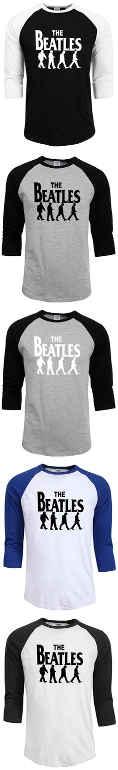 summer autumn 2017 band rock and roll T Shirt 100% cotton the beatles t-shirt man top tee casual man raglan sleeve homme drake