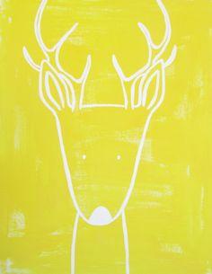 No. 0012 - Modern Kids and Nursery Art - The Deer Art Print