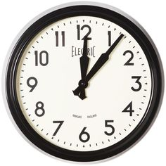 "1950's–style electric wall clock from Stonewall Kitchen, 14.5"" in diameter, $95"