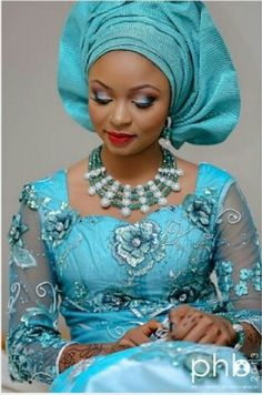 Elegant Nigerian Brides look book: The Nigerian Bridal Trend Collection is Slinky, Stunning, and Perfect - Wedding Digest Naija African Dresses For Women, African Attire, African Wear, African Fashion Dresses, African Women, African Style, African Print Fashion, Africa Fashion, African Prints