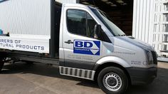 The Green I Signs Blog: Volkswagen crafter dropside pick up graphics for B...