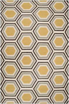 Surya Fallon Honeycomb Light Blue / Black / Cream (FAL-1037) Area Rugs