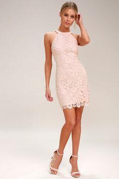 Love Poem Blush Pink Lace Dress 3