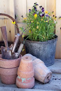 the potting table  by me, julle, via Flickr