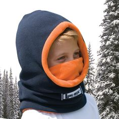 It's a toasty hood, face warmer, and gaiter in one. It's the best for active boys like mine!