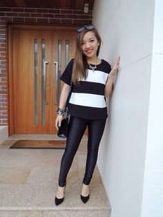 Disco black waisted pants