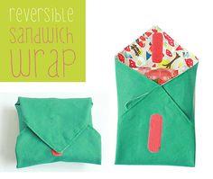 Reversible sandwich wrap PDF pattern by Kikoi