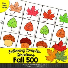 Fall-themed complex directions: temporal, conditional, directional, ordinal, and those containing multiple modifiers.
