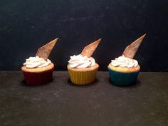 When Life Gives You Sprinkles-- Churro Cupcakes. Cinnamon Cupcakes Filled with Salted Dulce de Leche and Topped with a Cinnamon Cream Cheese Frosting and a Churro Tortilla Crisp.