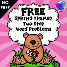 FREEBIE Two step word problems are challenging for so many 2nd and 3rd grade students. This will help you to teach, reinforce, or review to help your students master this skill. These are SPRING THEMED word problems.  Click to learn more!